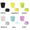 Mini Vasos Quadrados Coloridos